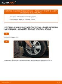 Kaip atlikti keitimą: 2.0 TDCi Ford Mondeo mk3 Sedanas Rankinio Stabdžio Trosas
