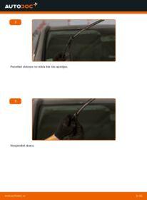 Kā veikt nomaiņu: MERCEDES-BENZ VITO Stikla tīrītāja slotiņa
