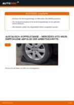 Wie Pendelstütze MERCEDES-BENZ VITO auswechseln und einstellen: PDF-Anleitung