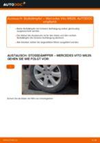 Wie Federbein MERCEDES-BENZ VITO auswechseln und einstellen: PDF-Anleitung