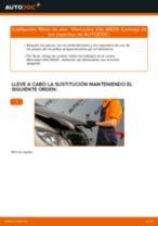 Instalación Filtro de aire motor MERCEDES-BENZ VITO Bus (W639) - tutorial paso a paso