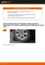 Come cambiare è regolare Tiranti barra stabilizzatrice MERCEDES-BENZ VITO: pdf tutorial