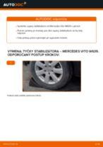 Výmena zadné a predné Vzpera stabilizátora MERCEDES-BENZ VITO: online návod