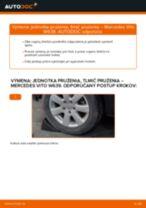 Ako vymeniť predné jednotka prużenia, tlmič prużenia na Mercedes Vito W639 – návod na výmenu