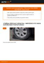 Kdy vyměnit Ulozeni, pouzdro loziska MERCEDES-BENZ VITO Bus (W639): příručka pdf