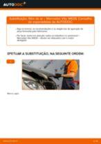 Como mudar filtro de ar em Mercedes Vito W639 - guia de substituição
