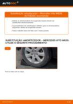 Como mudar amortecedores da parte traseira em Mercedes Vito W639 - guia de substituição