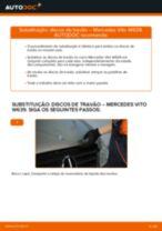 Mudar Discos de travagem Discos de freio MERCEDES-BENZ faça você mesmo - manual online pdf