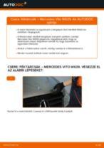 Hogyan cseréje és állítsuk be Féktárcsák MERCEDES-BENZ VITO: pdf útmutató