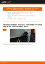 Montavimo Guolis, rato guolio korpusas MERCEDES-BENZ VITO Bus (W639) - žingsnis po žingsnio instrukcijos