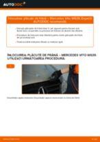 Instalare Placute Frana spate si față MERCEDES-BENZ cu propriile mâini - online instrucțiuni pdf