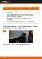 Luchtfilter vervangen MERCEDES-BENZ VITO: werkplaatshandboek