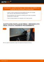 Cómo cambiar y ajustar Juego de pastillas de freno MERCEDES-BENZ VITO: tutorial pdf