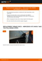 Step by step PDF-tutorial on Brake Discs MERCEDES-BENZ VITO Bus (W639) replacement