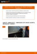Kuinka vaihtaa jarrulevyt taakse Mercedes Vito W639-autoon – vaihto-ohje