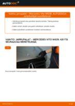 Kuinka vaihtaa jarrupalat taakse Mercedes Vito W639-autoon – vaihto-ohje