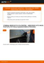 Ako vymeniť zadné brzdové platničky na Mercedes Vito W639 – návod na výmenu