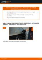 Asendamine Piduriklotsid MERCEDES-BENZ VITO: käsiraamatute