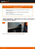 MERCEDES-BENZ VITO hátsó Rögzítőfék fékpofa cseréje: kézikönyv online