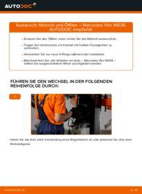 Wie der Wechsel durchführt wird: Ölfilter 115 CDI 2.2 Mercedes Vito W639 tauschen