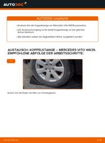 Wie der Wechsel durchführt wird: Koppelstange 115 CDI 2.2 Mercedes Vito W639 tauschen