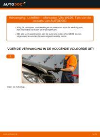 Vervangen: Luchtfilter MERCEDES-BENZ VITO
