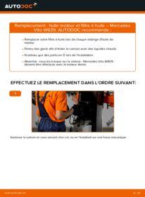 Comment effectuer un remplacement de Filtre à Huile sur 115 CDI 2.2 Mercedes Vito W639