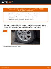 Ako vykonať výmenu: Tlmič pruzenia na 115 CDI 2.2 Mercedes Vito W639