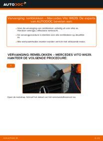Vervangen: Remblokken MERCEDES-BENZ VITO
