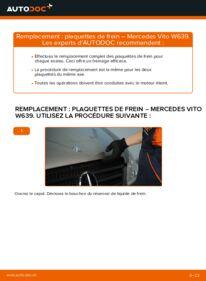 Comment effectuer un remplacement de Plaquettes de Frein sur 115 CDI 2.2 Mercedes Vito W639