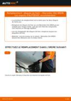 Comment changer : disques de frein avant sur Mercedes Vito W639 - Guide de remplacement