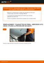 Comment changer : plaquettes de frein avant sur Mercedes Vito W639 - Guide de remplacement