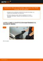 Cómo cambiar: filtro de combustible - Mercedes Vito W639 | Guía de sustitución