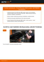 Kuinka vaihtaa jarrulevyt taakse Ford Mondeo Mk3 sedan-autoon – vaihto-ohje