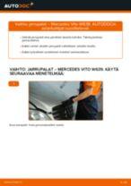 Kuinka vaihtaa jarrupalat eteen Mercedes Vito W639-autoon – vaihto-ohje