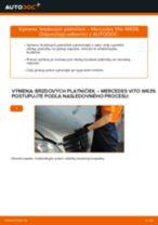 Ako vymeniť predné brzdové platničky na Mercedes Vito W639 – návod na výmenu