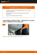 Paigaldus Piduriklotsid MERCEDES-BENZ VITO Bus (W639) - samm-sammuline käsiraamatute