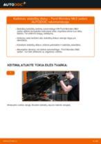 Kaip pakeisti ir sureguliuoti Stabdžių diskas FORD MONDEO: pdf pamokomis