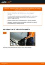 Pakeisti Stabilizatoriaus įvorė MERCEDES-BENZ VITO: instrukcija
