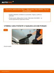 Ako vykonať výmenu: Palivový filter na 115 CDI 2.2 Mercedes Vito W639