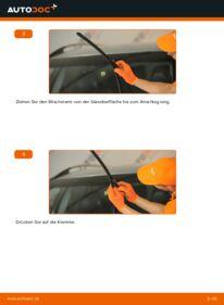 Wie der Wechsel durchführt wird: Scheibenwischer 2.4 D5 Volvo XC90 1 tauschen