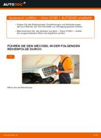 Wie der Wechsel durchführt wird: Luftfilter 2.4 D5 Volvo XC90 1 tauschen