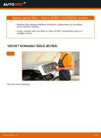 Kā veikt nomaiņu: VOLVO XC90 Gaisa filtrs