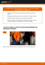 Cambio Filtro de aceite motor HONDA bricolaje - manual pdf en línea