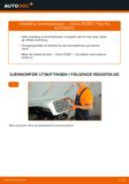 Hvordan bytte og justere Bremsekloss VOLVO XC90: pdf håndbøker