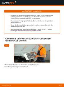 Wie der Wechsel durchführt wird: Bremsscheiben 2.4 D5 Volvo XC90 1 tauschen