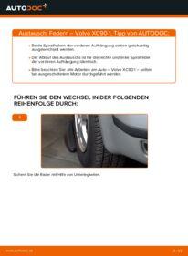 Wie der Wechsel durchführt wird: Federn 2.4 D5 Volvo XC90 1 tauschen
