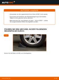 Wie der Wechsel durchführt wird: Radlager 2.4 D5 Volvo XC90 1 tauschen