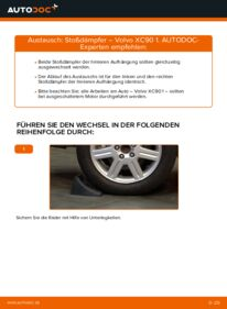 Wie der Wechsel durchführt wird: Stoßdämpfer 2.4 D5 Volvo XC90 1 tauschen