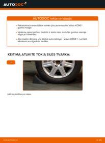 Kaip atlikti keitimą: 2.4 D5 Volvo XC90 1 Rato guolis